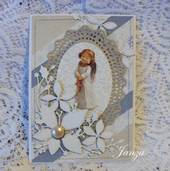 Скрап открытки с ангелами, тайному другу поздравительные
