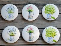 Fair buttons - Provence flowers