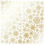 Лист с фольгированием - Golden Snowflakes White