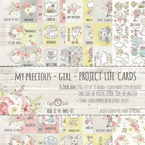 Project life cards - My Precious Girl