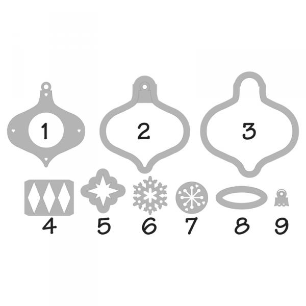 Die cutting template - Ornaments
