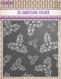 Embossing folder - Holly leaves