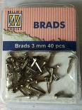 Mini Brads 3mm - Antique silver