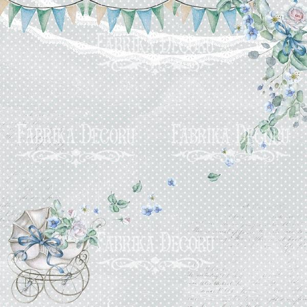 Papīrs 30x30cm - Shabby baby boy redesign 2