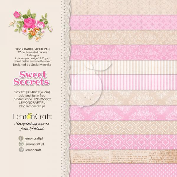 Papīrs 30x30 cm - Sweet Secrets Basic